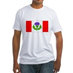 Scottish Canadian Fitted T-Shirt