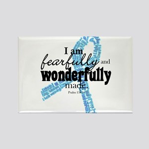Fearfully made Blue ribbon Rectangle Magnet