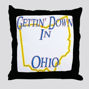Gettin' Down in OH Throw Pillow