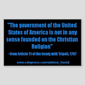 Not a Christian Nation Rectangle Sticker