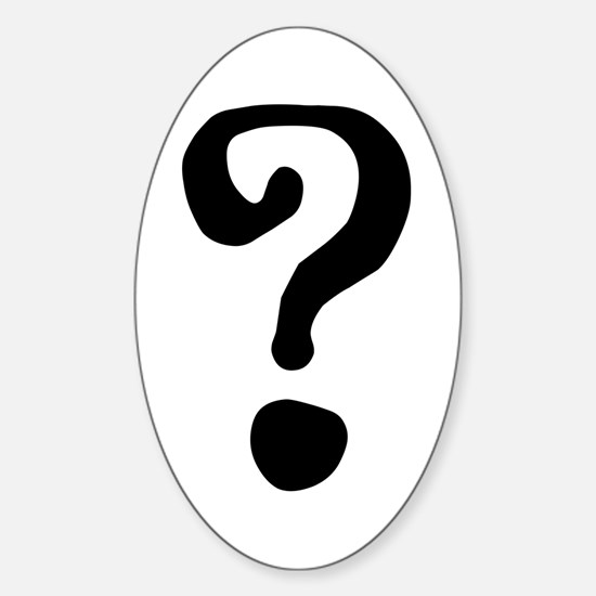 Question Mark Sticker (Oval)