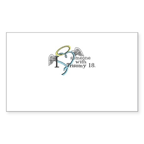 Love an angel with Trisomy 18 Sticker (Rectangle)