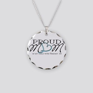 Proud T18 mom Necklace Circle Charm