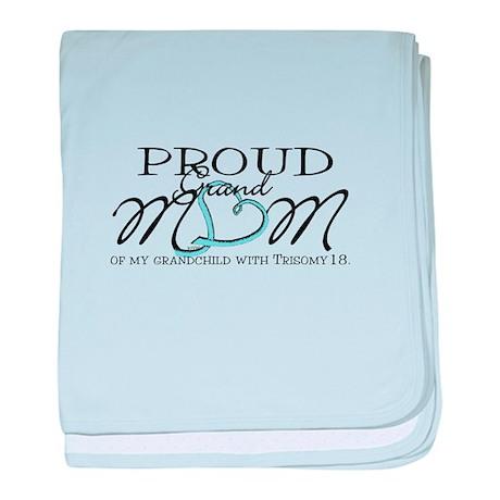 Proud T18 Grandmom baby blanket