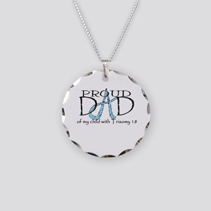 Proud T18 Dad Necklace Circle Charm