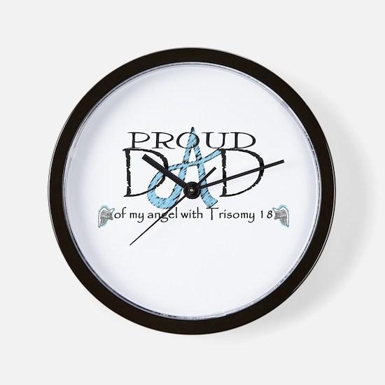 Proud T18 angel dad Wall Clock