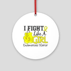 Licensed Fight Like A Girl 15.2 E Ornament (Round)