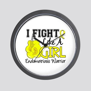 Licensed Fight Like A Girl 15.2 Endomet Wall Clock