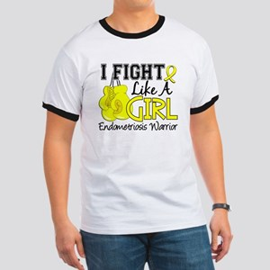 Licensed Fight Like A Girl 15.2 Endometri Ringer T