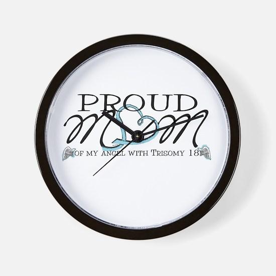 Proud T18 angel mom Wall Clock