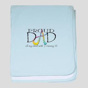 Proud T13 dad baby blanket