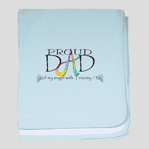 Proud T13 angel Dad baby blanket