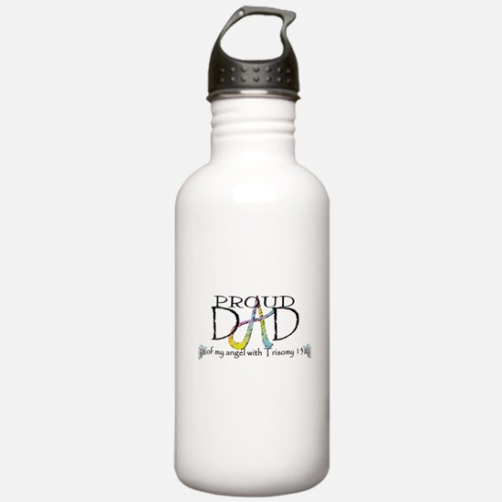 Proud T13 angel Dad Water Bottle
