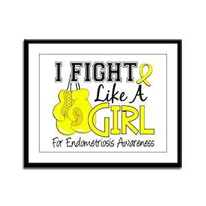 Licensed Fight Like A Girl 15.5 Framed Panel Print