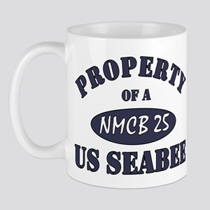 Property of a NMCB 25 SEABEE Mug
