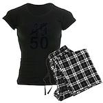 Great 50th Birthday Women's Dark Pajamas