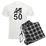 Great 50th Birthday Men's Light Pajamas