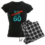 60th Birthday Gifts, 59 to 60 Women's Dark Pajamas