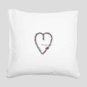 hartrose2 Square Canvas Pillow