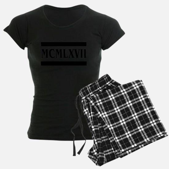 Roman numerals, 1967 Pajamas