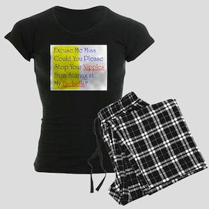 Excuse Me Miss Women's Dark Pajamas