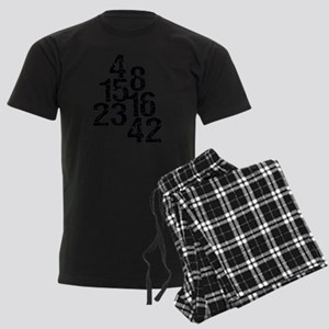 Eroded LOST Numbers Men's Dark Pajamas