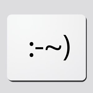 Runny Nose Smilie Mousepad