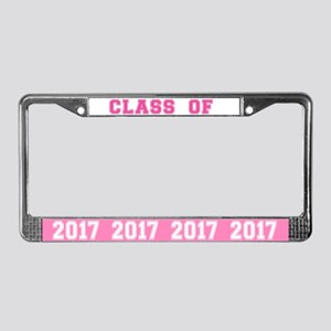 Pink Class Of 2017 License Plate Frame