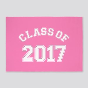 Pink Class Of 2017 5'x7'Area Rug