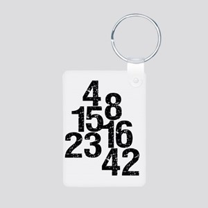 Eroded LOST Numbers Aluminum Photo Keychain