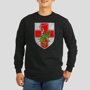 St. George & Dragon Long Sleeve Dark T-Shirt