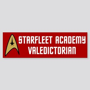 Starfleet Valedictorian (red) Sticker (Bumper)