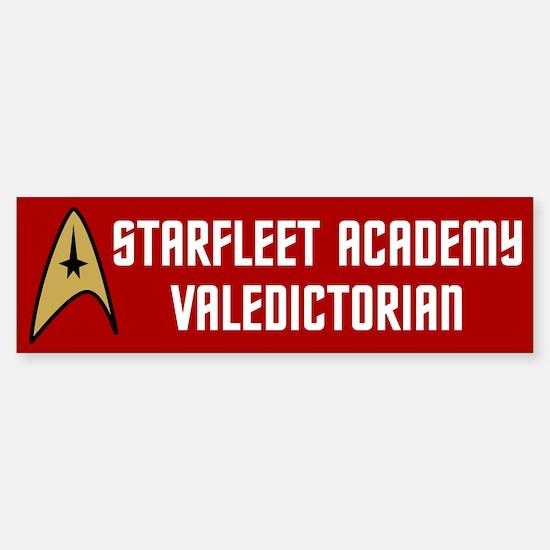 Starfleet Valedictorian (red) Sticker (Bumper)