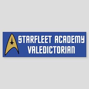 Starfleet Valedictorian (blue) Sticker (Bumper)