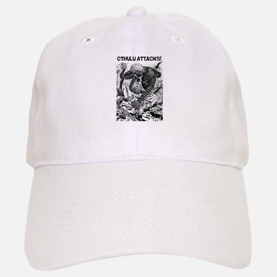 Cthulu Attacks! Baseball Baseball Cap