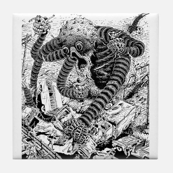 Cthulu Attacks! Tile Coaster