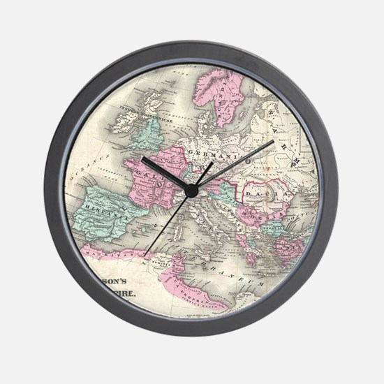 Vintage Map of The Roman Empire (1862) Wall Clock