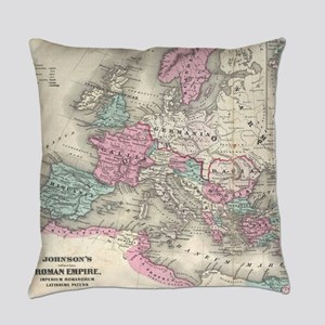 Vintage Map of The Roman Empire (1 Everyday Pillow