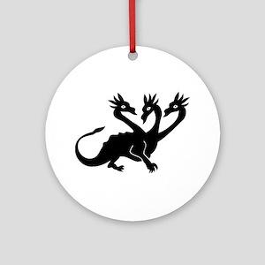 Three Headed Dragon Ornament (Round)