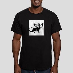 Three Headed Dragon Men's Fitted T-Shirt (dark)
