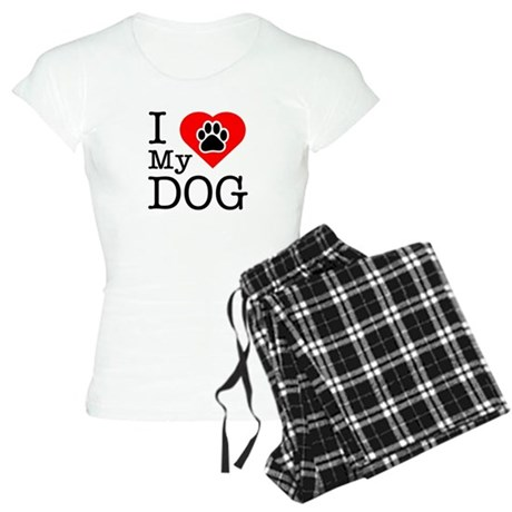 I Love My Dog Women's Light Pajamas