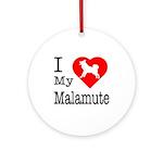 I Love My Malamute Ornament (Round)