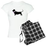 Basset Hound Breast Cancer Su Women's Light Pajama