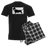 Basset Hound Breast Cancer Su Men's Dark Pajamas