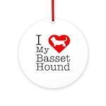 I Love My Basset Hound Ornament (Round)