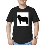 Bearded Collie Silhouette Men's Fitted T-Shirt (da