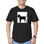 Blood Hound Breast Cancer Sup Men's Fitted T-Shirt