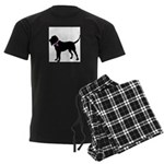 Blood Hound Breast Cancer Sup Men's Dark Pajamas