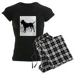 Bloodhound Silhouette Women's Dark Pajamas