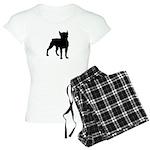 Boston Terrier Silhouette Women's Light Pajamas